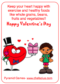 free valentines  card and healthy heart pages tips printables
