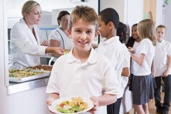 vegetarian children at school