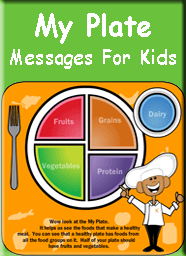my plate food groups healthy messages for kids