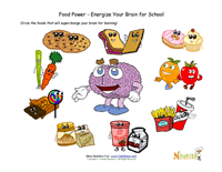 healthy nutrition printables  for kids