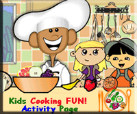 kids cooking activities and worksheets