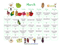 healthy calendar for kids