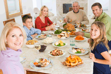 family meals promoting healthy child