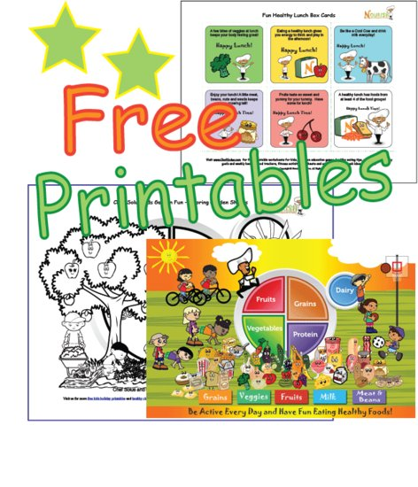 Free Kids Nutrition Printables - Worksheets, My Plate, Food Groups