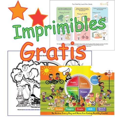 Imprimibles Gratis – Hojas de Trabajo, Nutrición de Niños, Grupos ...
